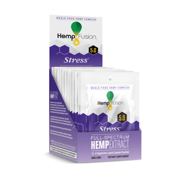 Two Count Stress CBD Hemp Extract Travel Pouches