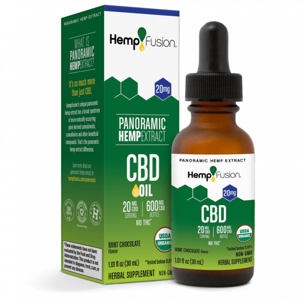 20 mg CBD Tincture - USDA Organic Certified