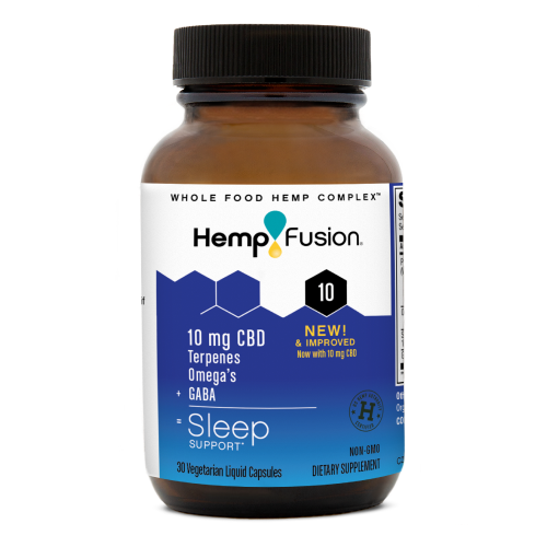 One 10 milligram bottle of CBD for Sleep by HempFusion
